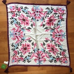 kate spade new york Tapestry Silk Square Scarf